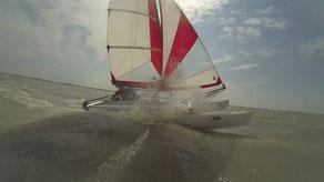 XCAT | Alternative zum aufblasbaren Schlauchkatamaran stabil auf der Welle
