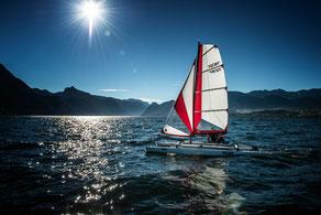 XCAT | Alternative zum aufblasbaren Schlauchkatamaran segeln