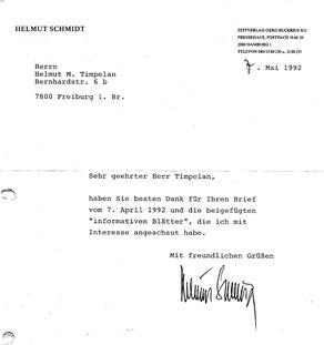 Bundeskanzler Helmut Schmidt