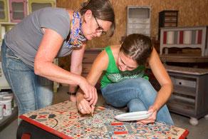 Coaching, formation relooking peinture de meubles haute savoie