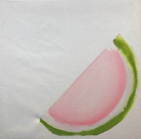 Watermelon Study  Ink On Canvas  40x40cm  2020