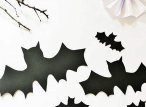 Bild: Freebie Bastelvorlage Fledermaus, Halloween Dekoration selber machen