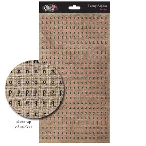 Uk Stockist Glitz Design Teeny Alphas Sticker Sheets