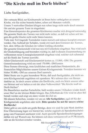 Bild: Seeligstadt Chronik 1999