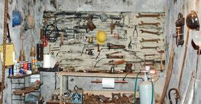 outils utilisés dans la mine musée des Gueules Rouges Tourves