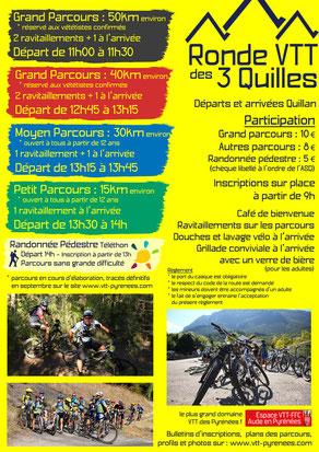 Programme Ronde VTT des 3 Quilles 2015