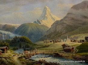 Originalbild von Zermatt ( G, Lory. fils )