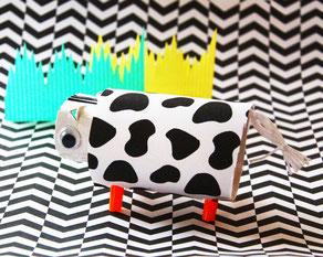 今年の干支の牛柄にしても◎。いろいろな動物でも作ってみてね!