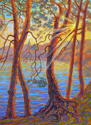 «Старица Оки Солотча», размер полотна 70 х 50 см, холст, акрил.