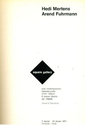Exhibition brochure by the two artist in Milan, Italy