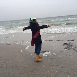 """Tanzend den Möwenflug nachahmen, Hineinversetzen ins """"Flügel haben"""""""