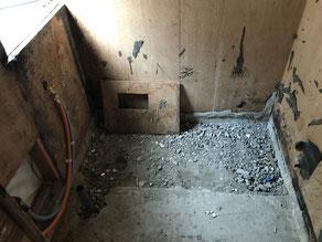 タイル浴室解体