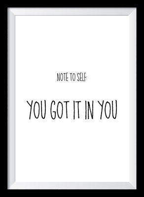 Typografie Poster Motivation, you got it in you