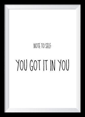 Typografie Poster, Typografie Print, Motivation, you got it in you