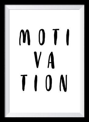 Typografie Poster Motivation, Motivation