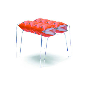 Waterwings, stool, ready made, schwimmflügel, hocker,