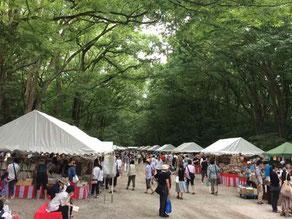 京都 下鴨神社 古本市 糺の森の中 ゆっくりとした時間がながれます
