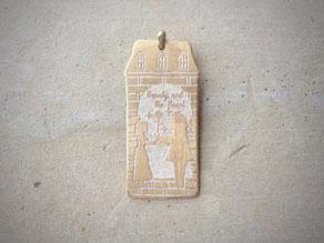 美女と野獣 真鍮ペンダント 京都手づくり市、岐阜サンデービルヂングマーケットにて販売します。 デザイン©マーガレットレーベル