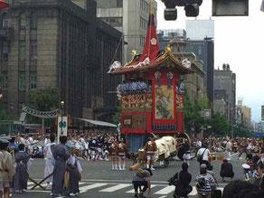 祇園祭り巡行 長刀鉾 市役所前