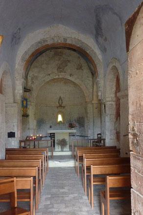 Bild: Das Innere der Chapelle St. Sixte