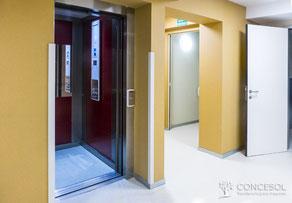 Ascensor para acceder a todas las plantas de la Residencia Concesol