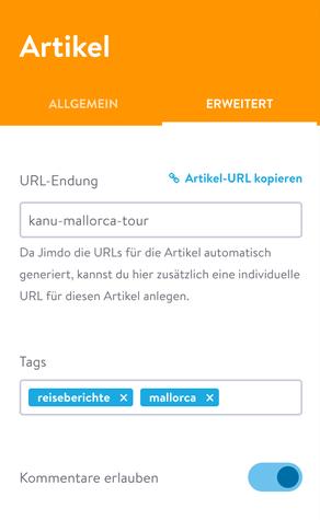 Die eigene URL-Endung macht eure Blogposts besonders SEO-freundlich und die Adresse für Nutzer besser lesbar.
