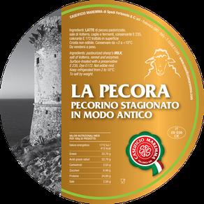 maremma sheep sheep's cheese dairy pecorino caseificio tuscany tuscan spadi follonica label italian origin milk italy matured aged antique la pecora