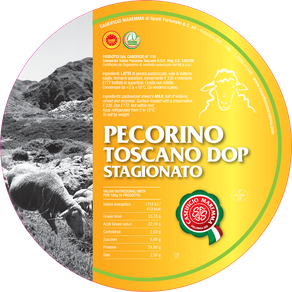 maremma sheep sheep's cheese dairy pecorino caseificio tuscany spadi follonica label italian origin milk italy pdo matured aged certified tuscan