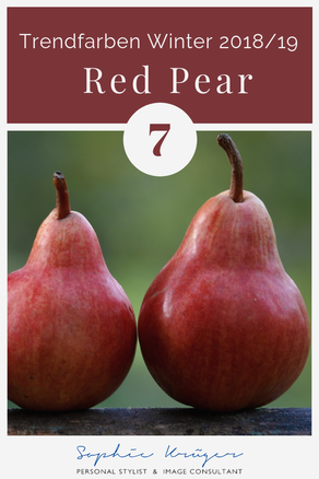 Red Pear - warme Trendfarbe für den Herbsttyp