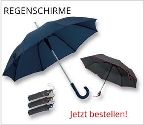 Regenschirme günstig, mit Logo