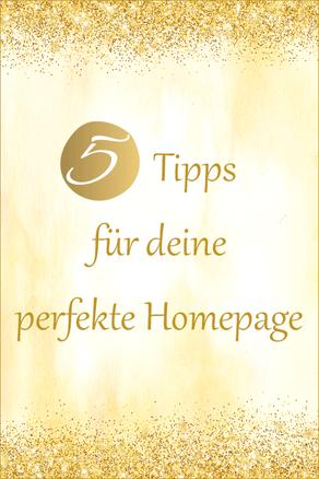 5 Tipps für deine perfekte Homepage
