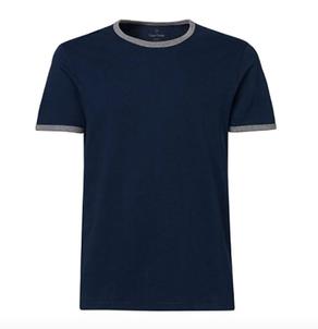 camiseta algodón orgánico hombre azul marino invertirenfamilia.com