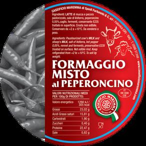 maremma misto mucca pecora formaggio caseificio toscano toscana spadi follonica etichetta italiano origine latte italia peperoncino aromatizzato aromatiche sapori cacio fresco