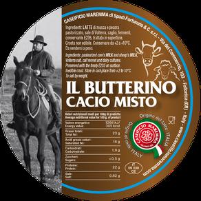 maremma misto mucca pecora formaggio caseificio toscano toscana spadi follonica etichetta italiano origine latte italia butterino cacio fresco vacca bovino