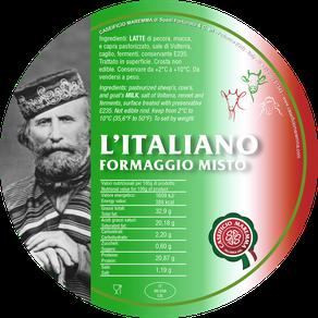 maremma misto mucca vacca bovino capra pecora formaggio caseificio toscano toscana spadi follonica etichetta italiano origine latte italia l'italiano italiano fresco