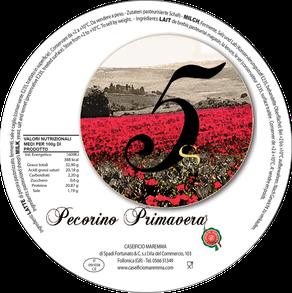 maremma pecora formaggio pecorino caseificio toscano toscana spadi follonica etichetta italiano origine latte italia primavera
