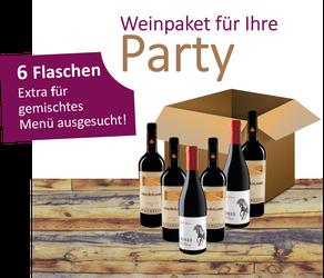 Weinpaket für Ihre Party