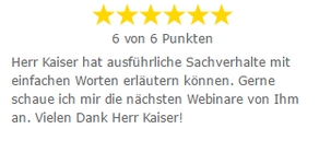 Bewertung Webinare Marketing Joachim Kaiser