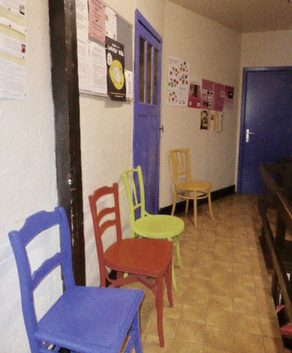salle d'attente du service social