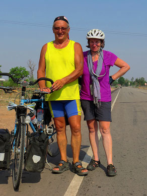 Yves aus Frankreich kommt von Hanoi und fährt vier Monate durch Laos und Vietnam.