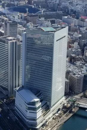 横浜市役所・北仲の新庁舎 (後方は関内駅前の7代目庁舎)