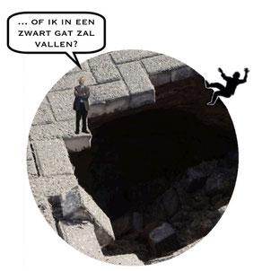 in een  zwart gat vallen