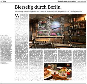 Biersommelier Karsten Morschett als Gastautor im nd - BIERTASTING