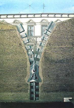Gert Neuhaus Wandbild/Mural Reissverschluss
