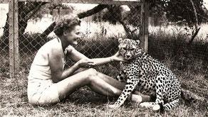 Joy Adamson e il ghepardo Pippa