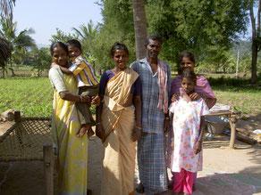 Eine Adivasifamilie