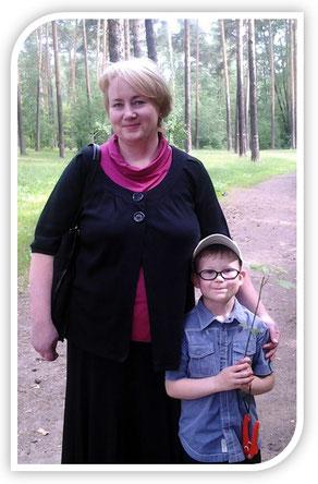 Я с сыном Павлом после проповеди