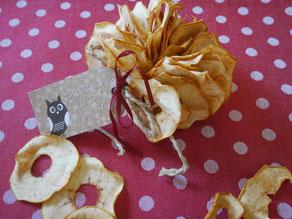 Gedörrte Apfelscheiben