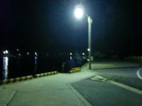 夜の釣り場