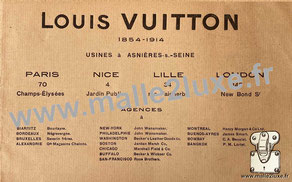 Catalogue Louis Vuitton 1914 - Malle de voyage